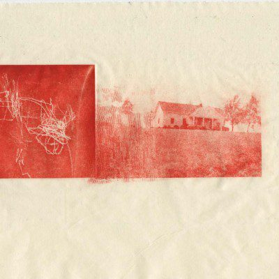 Poltergeist and Sister - Carley Moore - 10.5x12.5 intaglio photo etching, aquatint