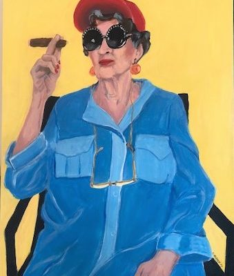 LINDA CALKINS - Don't Mess with Florence -18x24, acrylic
